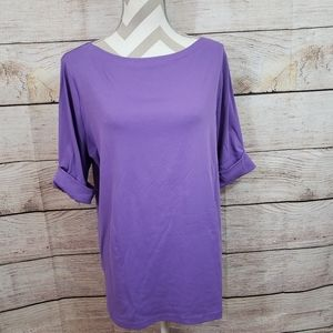 Lauren Ralph Lauren plus size 3X purple top
